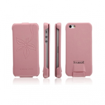 Etui IPhone5 I-Carer Vogue Flower FlipCase Różowy