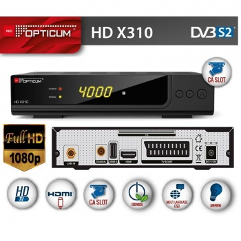 Tuner Opticum HD X310 DVB-S/DVB-S2