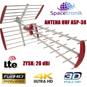 Antena DVB-T UHF Spacetronic ASP-38 LTE Ready